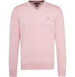 Tommy Hilfiger Cotton silk v-neck mw0mw09783/522 - roze