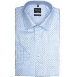 Olymp Hemden 125232/28 overhemd met korte blauw