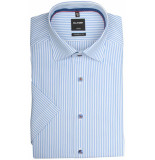 Olymp Hemden 128232/11 overhemd met korte licht blauw