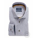 Ledûb Lange mouw 0137786/180180 overhemd met blauw