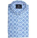 Chris Cayne Chc29s124.1239/2067 overhemd met korte blauw