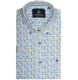 Chris Cayne Chc29s124.1254/4167 overhemd met korte groen