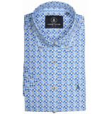 Chris Cayne Chc29s127.1251/1517 overhemd met korte blauw