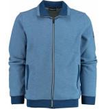 Chris Cayne Vest met rits chc29s306.3107/2023 chris blauw