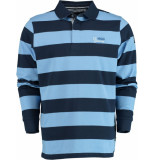 Chris Cayne Gestreepte lange mouw polo chc29s307.3120/2368 chris blauw