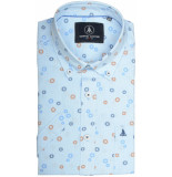 Chris Cayne Chc29s124.1247/5123 overhemd met korte licht blauw