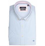 Giordano 916002/61 overhemd met korte mouwen licht blauw