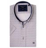 Giordano 916031/50 overhemd met korte mouwen bordeaux