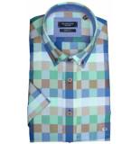 Giordano 916310/71 overhemd met korte mouwen groen