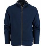Baileys Vest met rits 912204/65 gebreid blauw