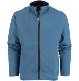 Baileys Vest met rits 912204/536 gebreid blauw