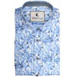 GCM overhemd met korte mouwen blauw