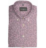 GCM overhemd met korte mouwen bordeaux