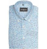 GCM overhemd met korte mouwen aqua blauw