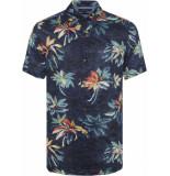 Tommy Hilfiger Hawaiian print shirt mw0mw10930/903 - blauw