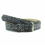 Rehab Belt dots - black zwart
