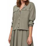 Selected Femme Slf adda ls shirt vetiver groen