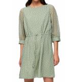 Selected Femme Slf jill damina short dress laurel green groen