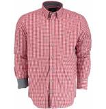 Commander Overhemd lange mouw 214006638/400 rood