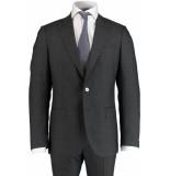 Bos Bright Blue Blue milano modern fit kostuum 595201/3 - antraciet