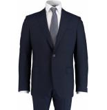 Bos Bright Blue Blue milano modern fit kostuum 595401/28 - blauw