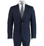 Bos Bright Blue Blue milano modern fit kostuum 547.1/8 - blauw