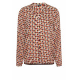 DIDI All-over print blouse oranje