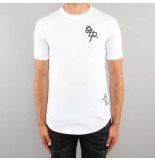 Off The Pitch Handwritten tee wit