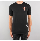 Off The Pitch Full strings tee zwart