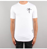 Off The Pitch Off printed tee wit