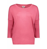 Saint Tropez Knit blouse w rib a2561 7332 grape roze