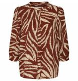 Lollys Laundry 19313 5079 amalie 67 blouse bruin