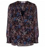 Co'Couture 95050 serula blouse 120 print zwart