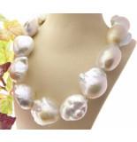 Christian Barok parel collier met zoutzee parels geel goud