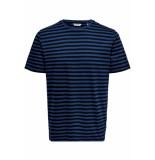 Only & Sons Onsjamie ss stripe reg tee noos 22013203 estate blue/black blauw