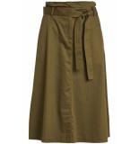 VILA Vibettias hw midi skirt 14051671 dark olive groen