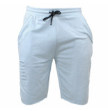 MZ72 Heren sweat short damaged look jeto licht blauw