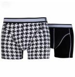 Zaccini 2pack boxershorts trendy design uni zwart