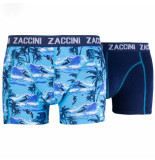 Zaccini 2pack boxershorts surfing uni blauw