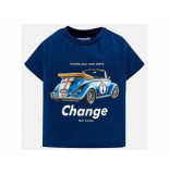 Mayoral Shirt korte mouw beetle navy blauw
