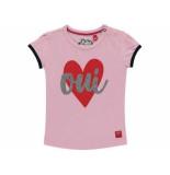 Quapi Shirt korte mouw romana roze