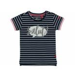 Quapi Shirt korte mouw robijn navy blauw
