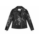 Nik & Nik Leren jacket emmy blossom zwart
