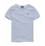 G-Star Xartto t-shirt blauw/ d12994-b343-8471 wit