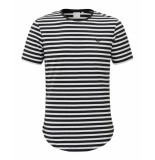 Zumo T-shirt bundy denim stripe zwart