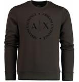 Armani Exchange Groene trui met logo 8nzm87.z9n1z/1840
