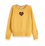 Maison Scotch Sweatshirt 150107 geel