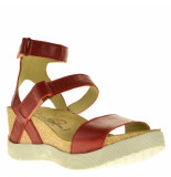 Fly London Sandalen sleehak rood