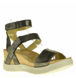 Fly London Sandalen sleehak zilver grijs