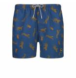 Shiwi Heren zwembroek leopard donker blauw